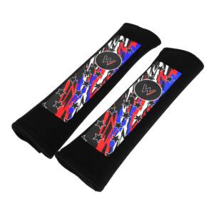 Harness-seat-belt-Shoulder-Pads-black-stars-n-lightning